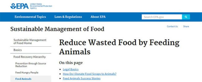 Food Waste to Animal Feed